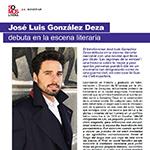 José Luis González Deza debuta en la escena literaria